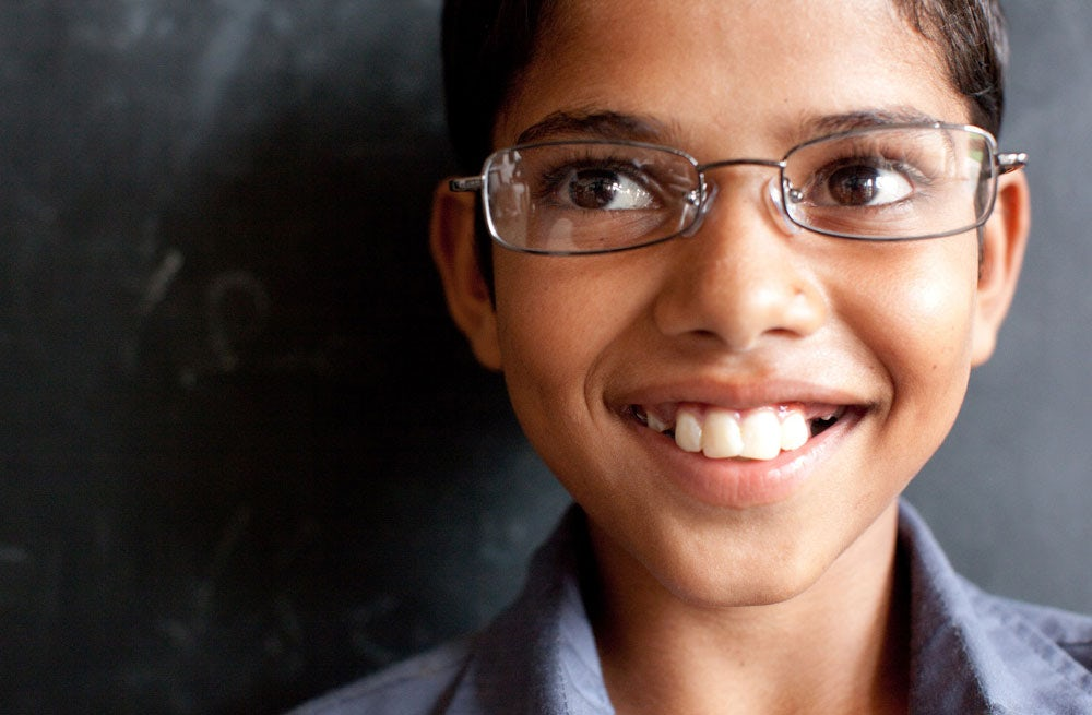 A child wearing glasses donated by Warby Parker | Source: Warby Parker