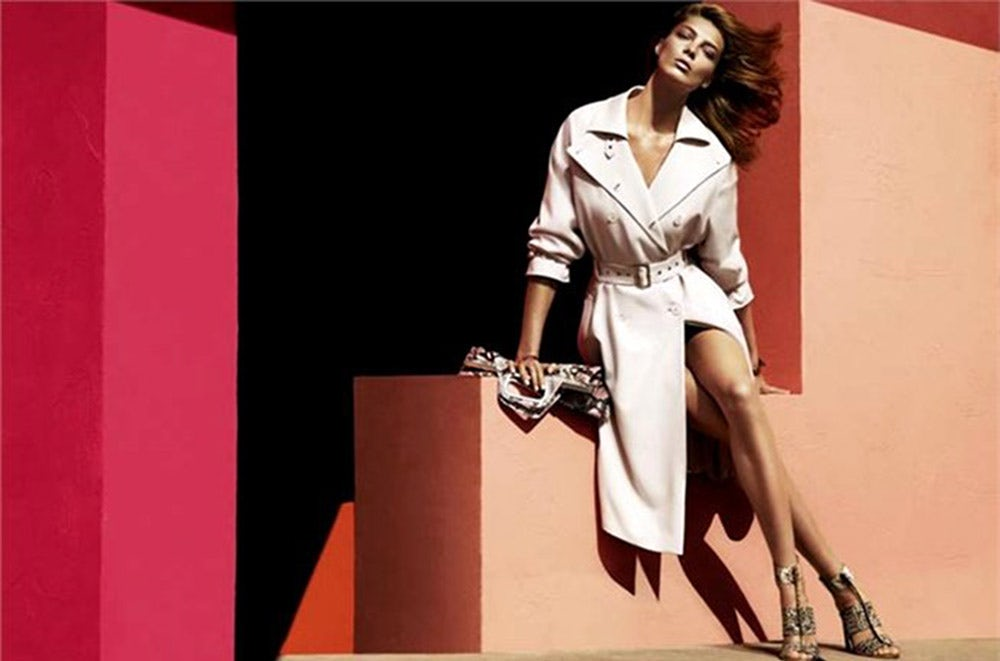 Daria Werbowy in the Salvatore Ferragamo campaign 2014 | Source: Salvatore Ferragamo