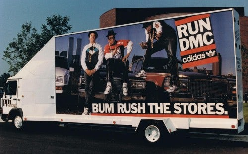 A Run-D.M.C. and Adidas billboard | Source: Adidas