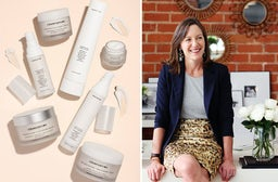 (L) Beautycounter products, (R) Founder Gregg Renfrew | Source: Beautycounter