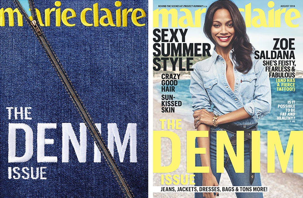 Marie Claire US August 2014 covers | Source: Marie Claire