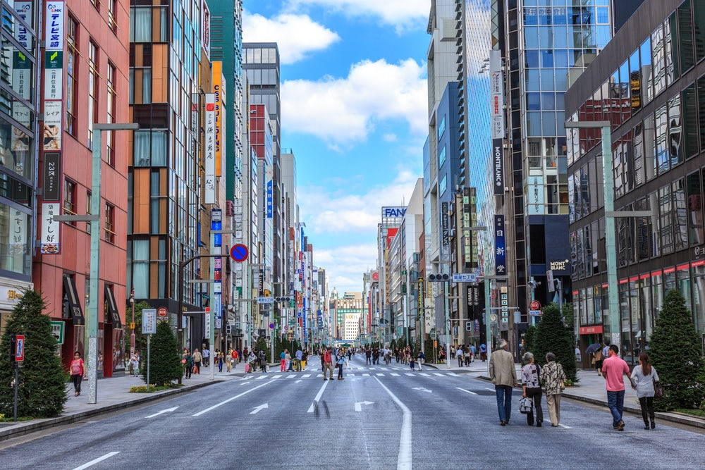 Ginza, a luxurious shopping district in Japan | Source: Shutterstock