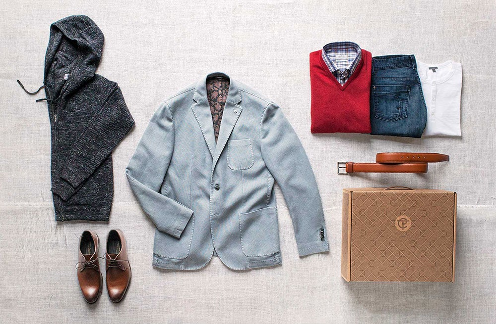 A sample 'trunk' from men's shopping service Trunk Club | Source: Trunk Club
