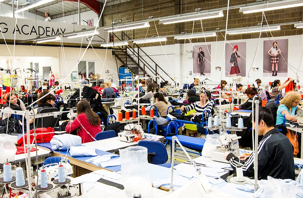 A workshop at Fashion Enter, a manufacturing and training enterprise based in London | Source: Fashion Enter