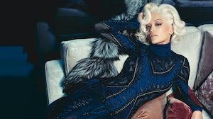 Rita Ora in Roberto Cavalli campaign for A/W 2014