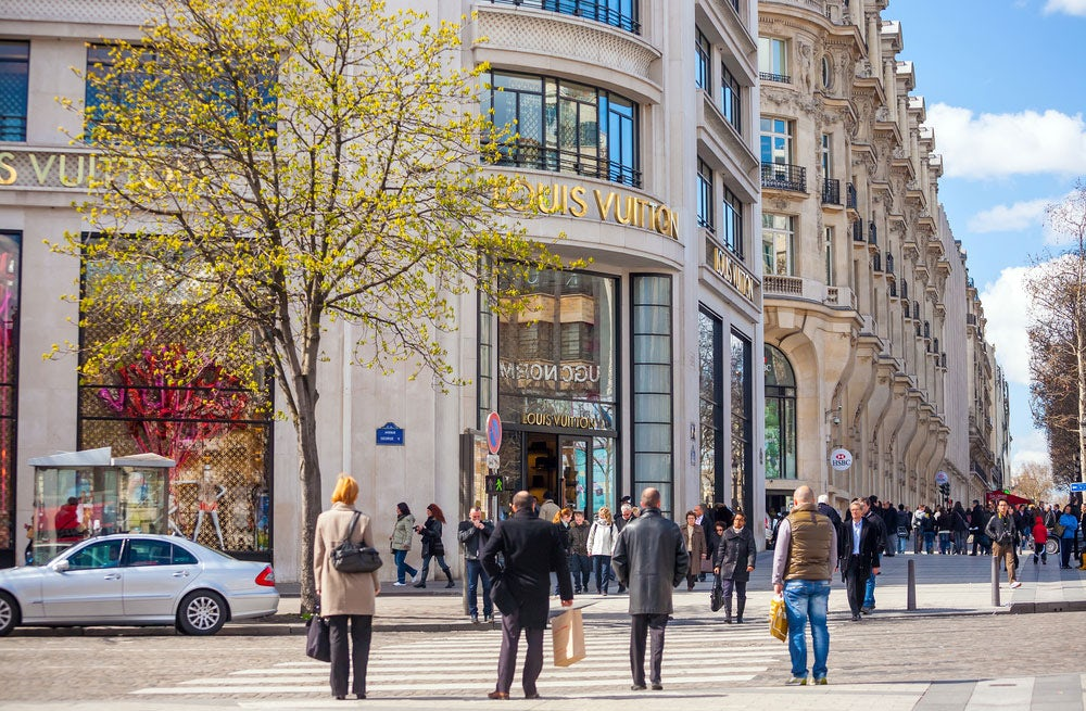 Louis Vuitton store on the Champs-Élysées, Paris   Source: Shutterstock