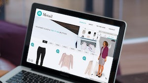 Metail's virtual fitting room and mannequin | Source: Metail
