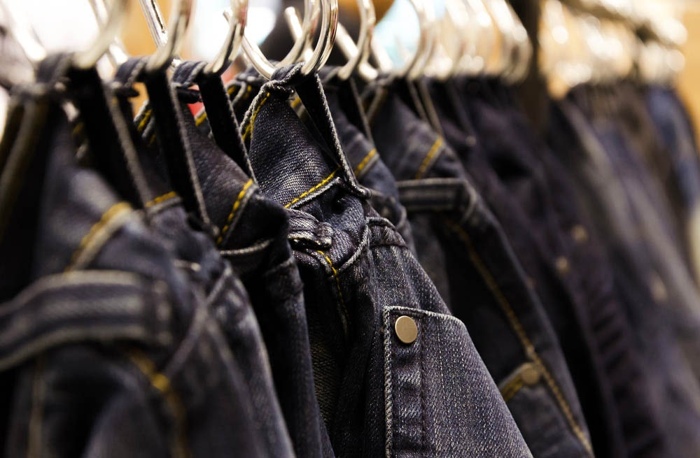 A selection of Levi's jeans | Source: Shutterstock