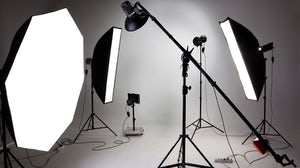 Set-up for a photo shoot | Source: Shutterstock