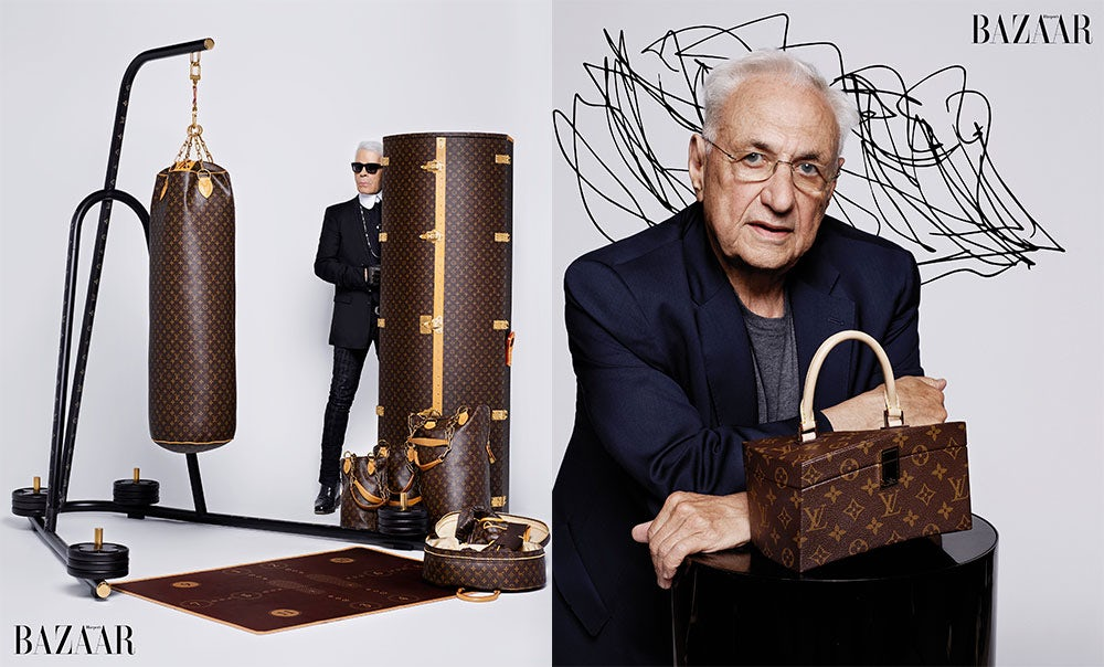 Karl Lagerfeld and Frank Gehry for Louis Vuitton | Photo: Karl Lagerfeld for Harper's Bazaar