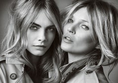 'My Burberry' campaign starring Cara Delevingne and Kate Moss | Source: Burberry/Mario Testino