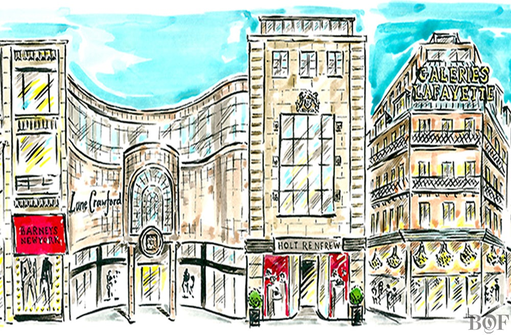 Department stores | Illustration by Clym Evernden for BoF