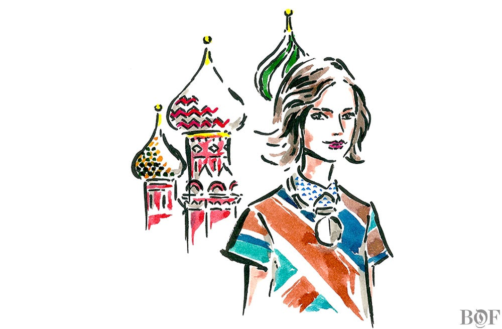 Miroslava Duma | Illustration by Clym Evernden for BoF