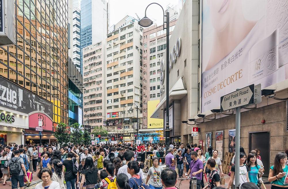 Causeway Bay, a shopping district in Hong Kong | Source: Shutterstock