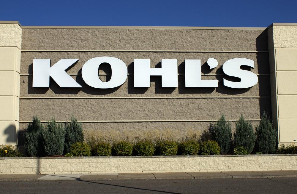 Kohl's retail storefront   Source: Shutterstock
