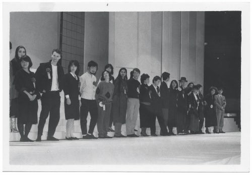 Woo Youngmi at the Osaka fashion competition that she won in 1983 | Source: Wooyoungmi