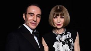 John Galliano and Anna Wintour at the British Fashion Awards | Source: British Fashion Council