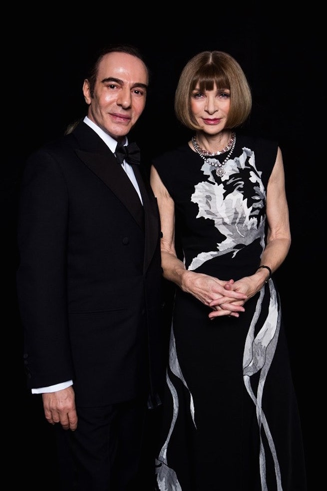 John Galliano and Anna Wintour at the British Fashion Awards | Source: British Fashion Council