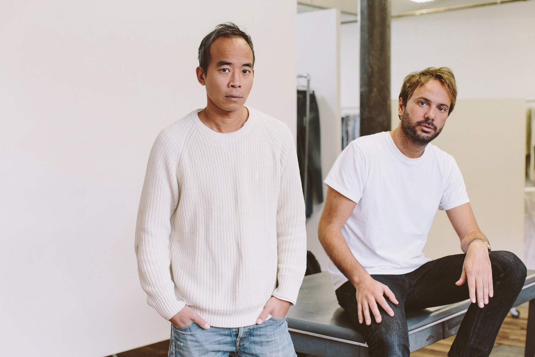 Peter Poopat and Flavio Girolami of Common Projects | Photo: Justin Chung