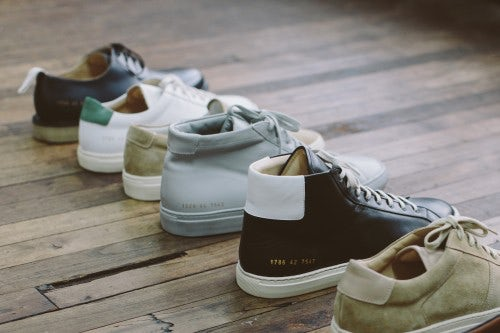 A selection of styles by Common Projects | Photo: Justin Chung