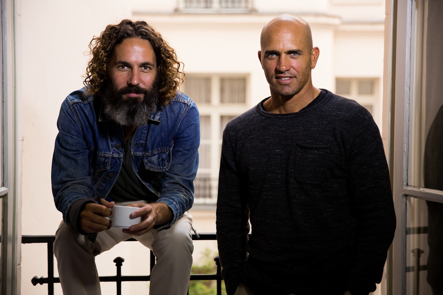 John Moore and Kelly Slater   Photo: Todd Glaser