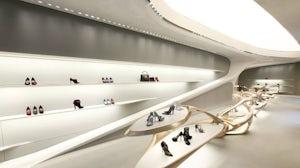 Stuart Weitzman store designed by Zaha Hadid | Source: Courtesy