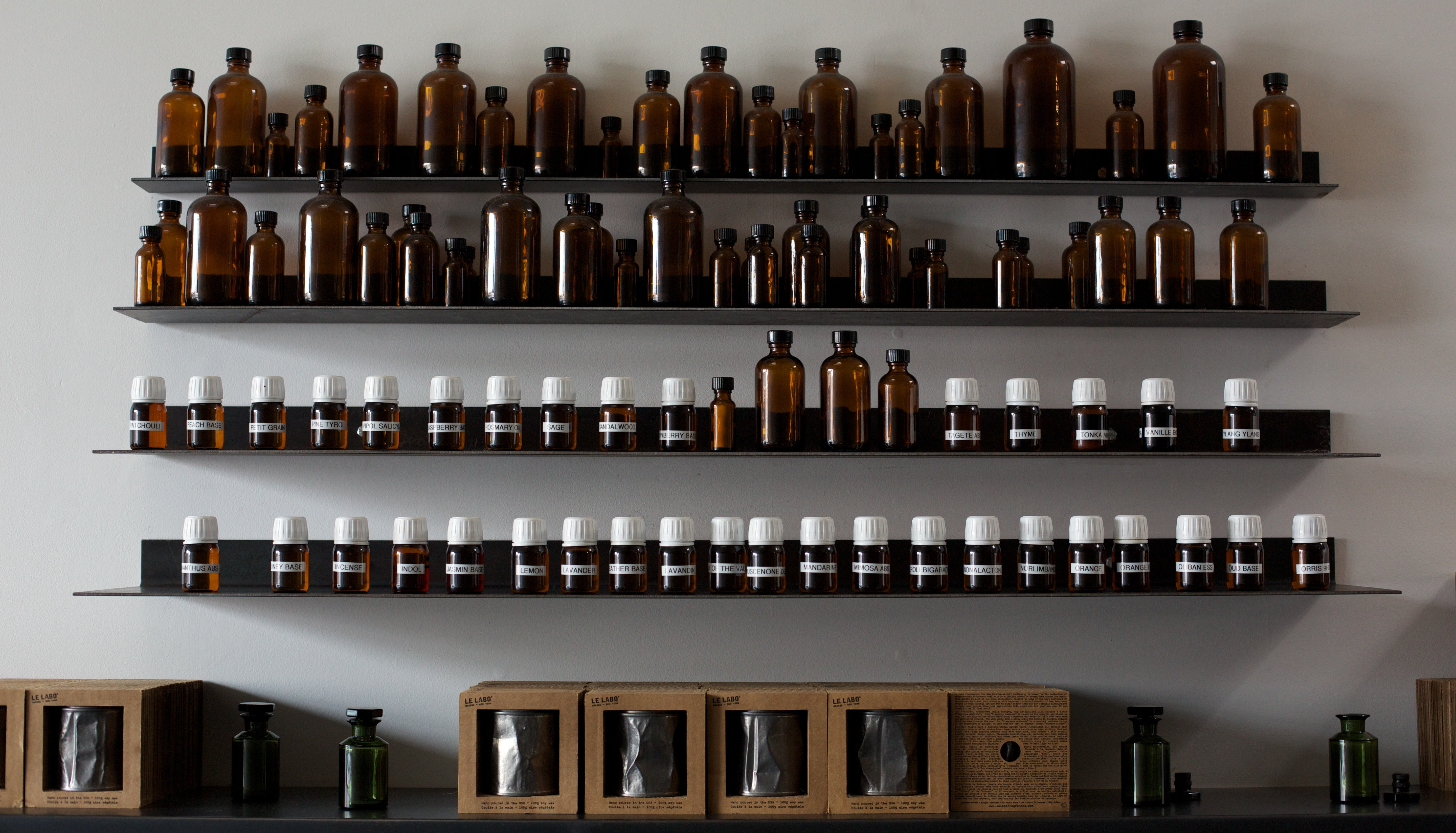 Fragrance ingredients in a Le Labo store | Source: Courtesy