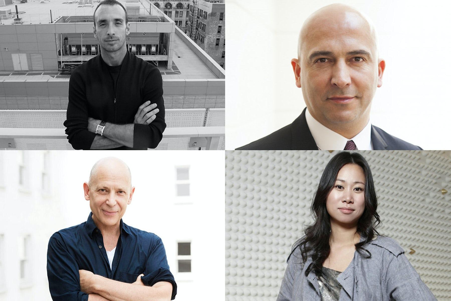 (Clockwise from top left) Rodrigo Bazan, Fabrizio Cardinali, Wen Zhou and Adrian Joffe | Source: Courtesy