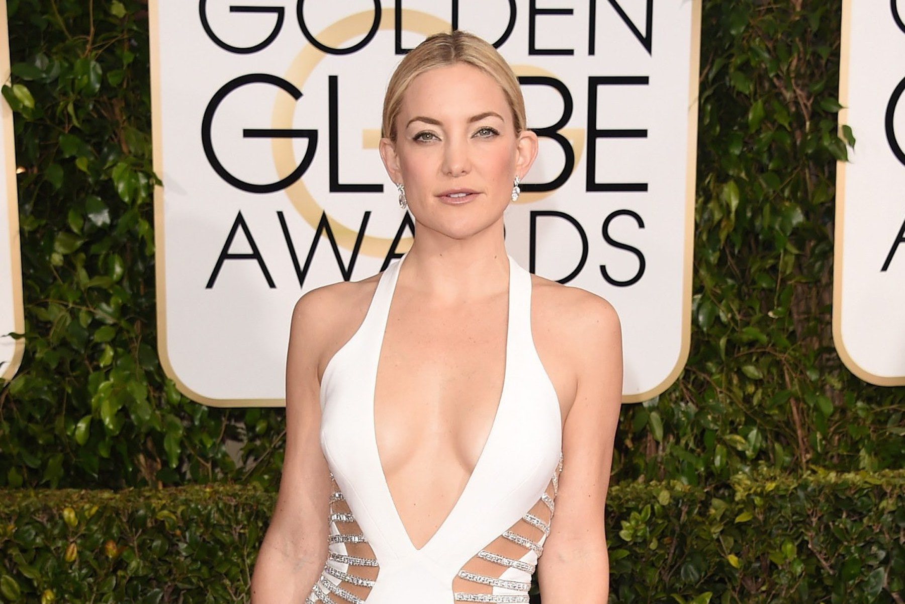 Kate Hudson in Forevermark earrings at the Golden Globes | Source: WireImage/Getty