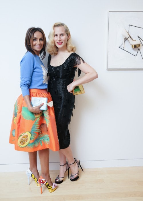 Bonnie Takher and Charlotte Olympia Dellal | Source: Courtesy