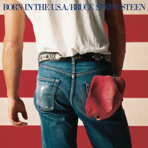 """Bruce Springsteen wearing Levi's on the cover of """"Born in the U.S.A."""" 