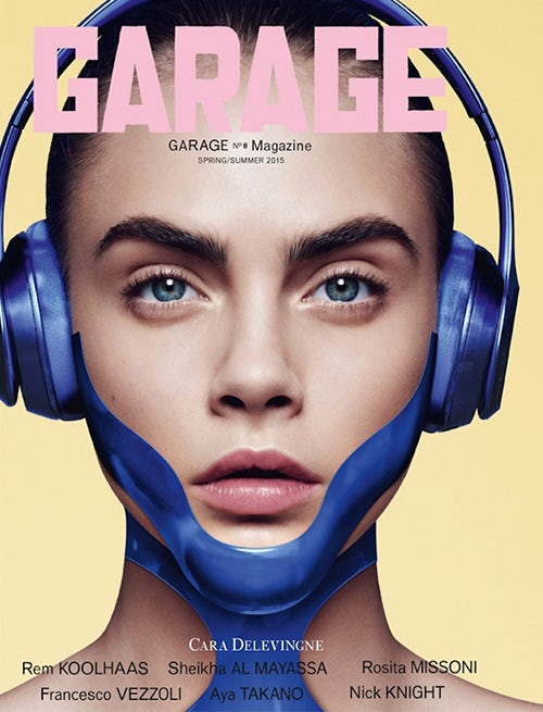 Cara Delevingne's animate-able Garage cover | Source: Garage