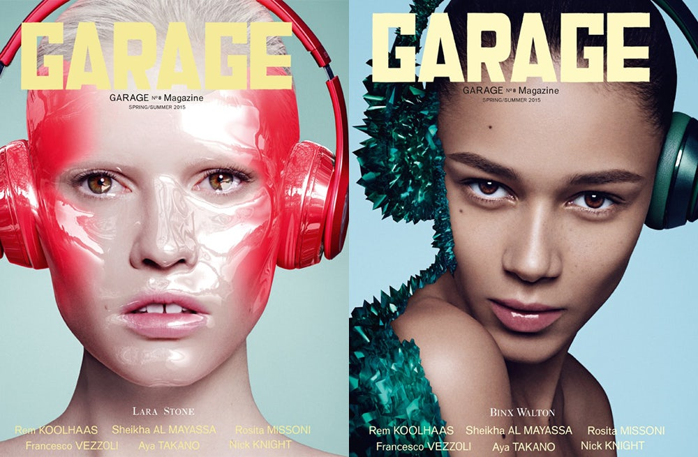 Lara Stone and Binx Walton's covers | Source: Garage