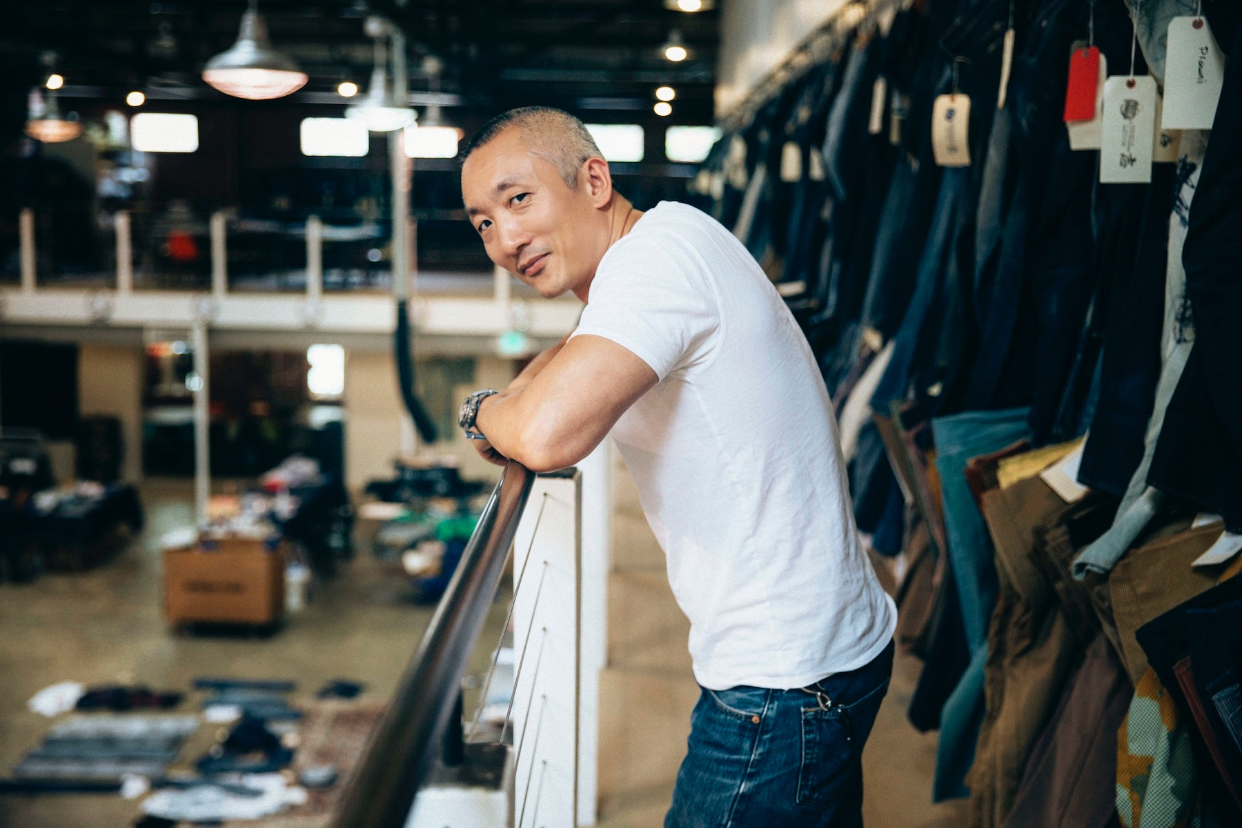 Jonathan Cheung at Levi's Eureka Innovation Lab | Source: Courtesy