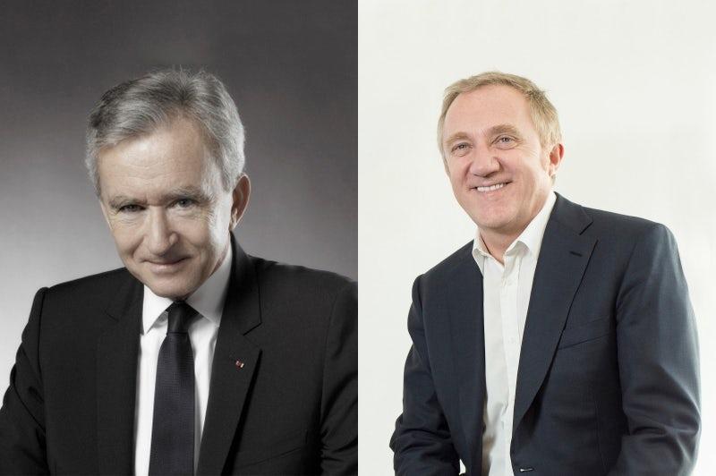 (L-R) LVMH's Bernard Arnault, Kering's François-Henri Pinault | Source:  Courtesy and Nicolas Morice