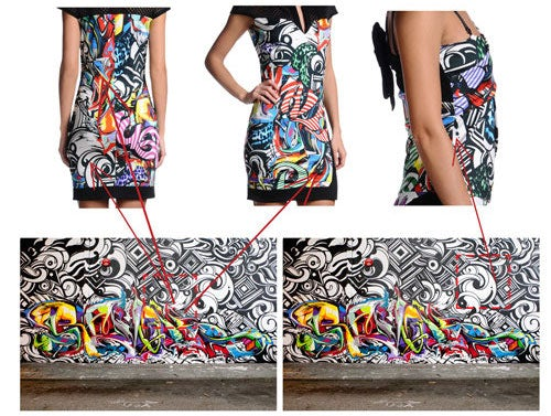 Cavalli Grafitti Girls collection allegedly featuring the work of street artists Revok, Reyes and Steel | Source: