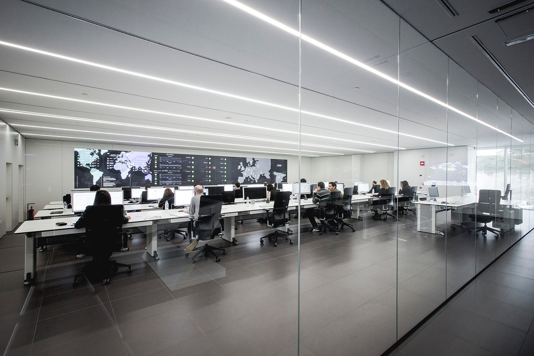 The data centre at Inditex's global headquarters   Source: Inditex