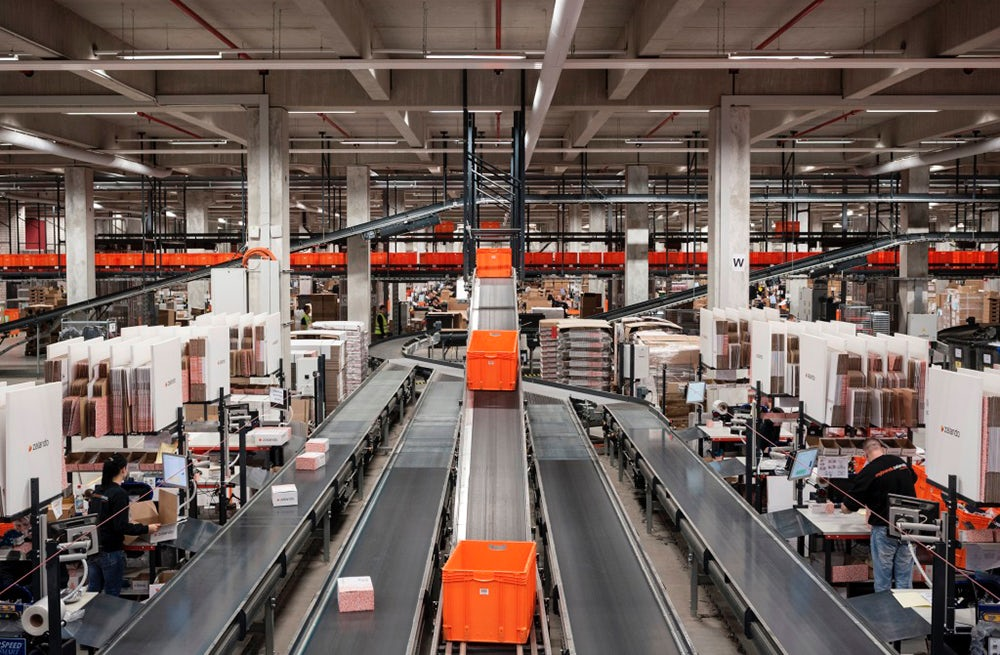 Zalando warehouse in Erfurt, Germany | Source: Zalando