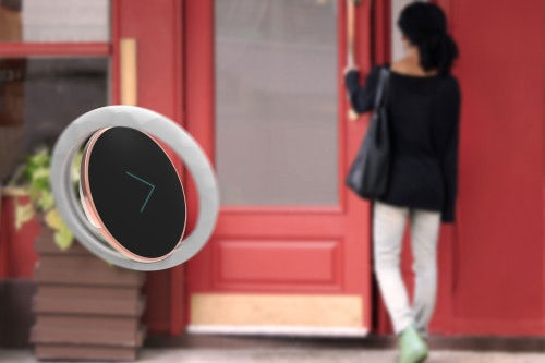 Flare flies in front of you, showing the way when you need navigation | Source: Frog Design Inc.