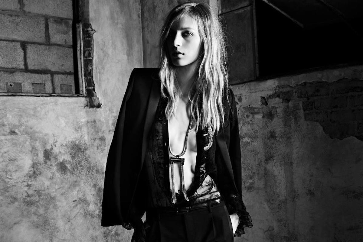Julia Nobis for Saint Laurent | Source: Saint Laurent