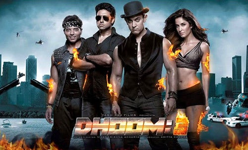 The poster for Dhoom 3, styled by Anaita Shroff Adajania | Source:  Courtesy