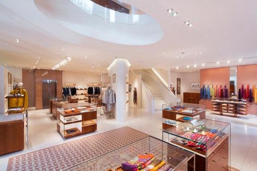 Men's area in Hermès' New Bond Street store in London | Source: Hermès