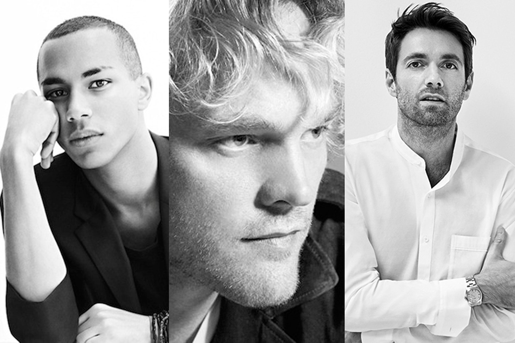 L-R: Olivier Rousteing, Peter Dundas, Massimo Giorgetti | Source: Courtesy