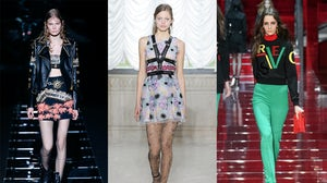 Autumn/Winter 2015 looks from (L-R) Fausto Puglisi, Giamba and Versace | Source: Indigital