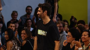 Massimo Giorgetti at the MSGM S/S 2015 show | Source: Shutterstock