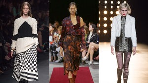 (L-R) Valentino, Givenchy, Saint Laurent Autumn/Winter 2015  | Source: Indigital
