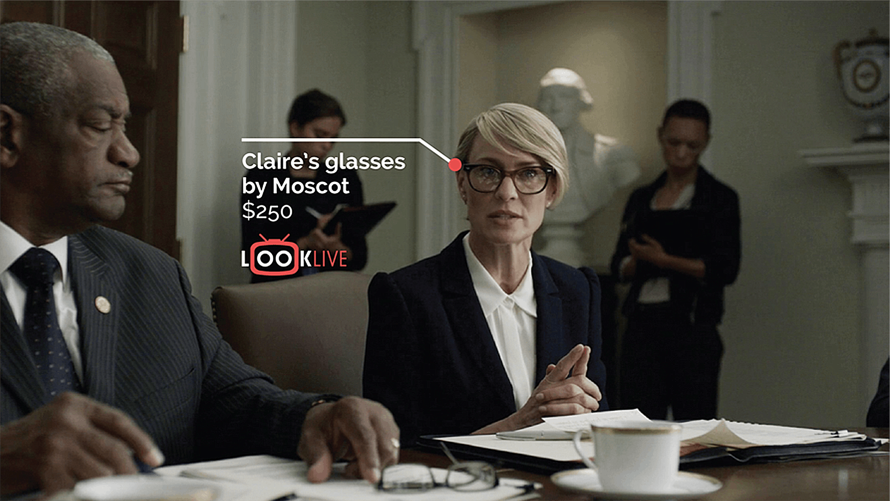 Claire Underwood on House of Cards, LookLive | Source: LookLive
