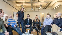 José Neves with Farfetch's senior leadership team on the day of their recent fundraising announcement   Photo: Dan Dennison for BoF