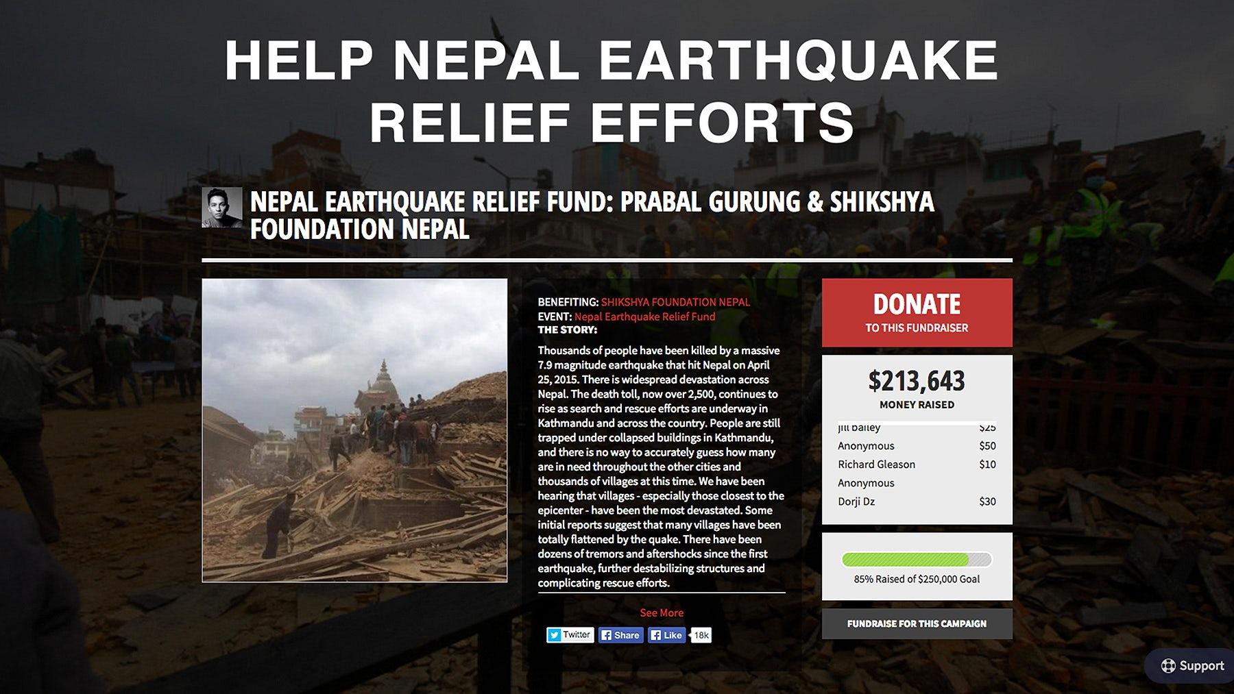 Prabal Gurung's Shikshya Foundation on Crowdrise   Source: Crowdrise