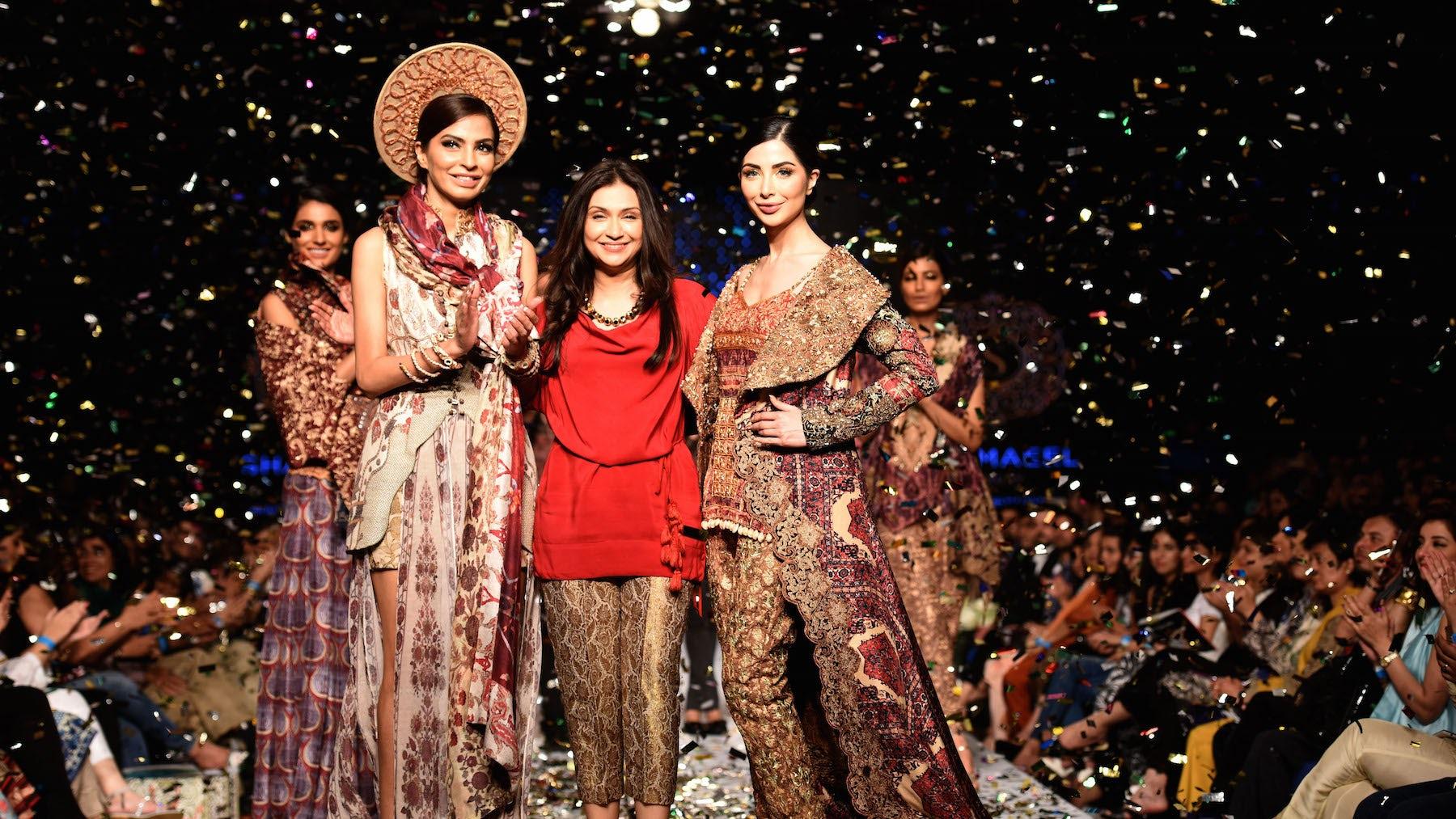 Pakistani designer Shamaeel Ansari at Telenor Fashion Pakistan Week | Source: Courtesy